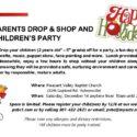 Parents Drop & Shop and Children's Party